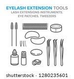 eyelash extension tools. lash...   Shutterstock .eps vector #1280235601