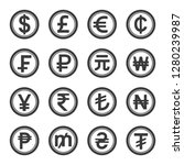 world currency symbol with... | Shutterstock .eps vector #1280239987