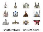 religious buildings icon set...   Shutterstock .eps vector #1280255821