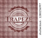 trapeze red geometric badge.... | Shutterstock .eps vector #1280256997