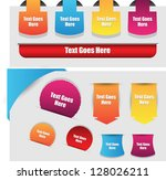 web element collection | Shutterstock .eps vector #128026211