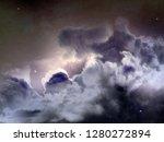 nebula sky background   Shutterstock . vector #1280272894