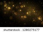 sparkling golden particles... | Shutterstock .eps vector #1280275177