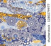 azulejos tiles patchwork.... | Shutterstock .eps vector #1280279977