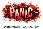 panic word  vector creative... | Shutterstock .eps vector #1280283124