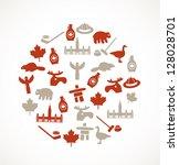 canada symbols | Shutterstock .eps vector #128028701