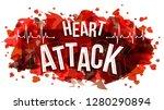 heart attack text  vector...   Shutterstock .eps vector #1280290894