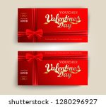 valentines day vector set of... | Shutterstock .eps vector #1280296927