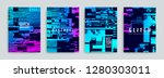 set of abstract background... | Shutterstock .eps vector #1280303011