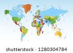 color world map vector | Shutterstock .eps vector #1280304784