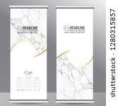 roll up business brochure flyer ...   Shutterstock .eps vector #1280315857