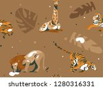 hand drawn vector abstract... | Shutterstock .eps vector #1280316331
