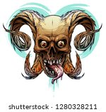 detailed graphic realistic... | Shutterstock .eps vector #1280328211