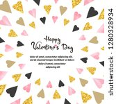 valentines day card design with ... | Shutterstock .eps vector #1280328934