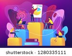 employees with laptops learning ... | Shutterstock .eps vector #1280335111