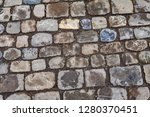 close up picture of cobbled...   Shutterstock . vector #1280370451