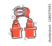 politic debate icon in comic... | Shutterstock .eps vector #1280375491