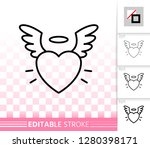 heart angel wing thin line icon....   Shutterstock .eps vector #1280398171