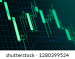 stock market or forex trading... | Shutterstock . vector #1280399524