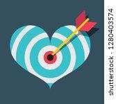 vector heart target with dart...   Shutterstock .eps vector #1280403574