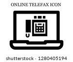 fax search icon. editable fax... | Shutterstock .eps vector #1280405194