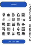 www icon set. 25 filled www...   Shutterstock .eps vector #1280405224
