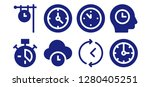 numeral icon set. 8 filled...   Shutterstock .eps vector #1280405251