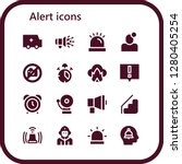 alert icon set. 16 filled... | Shutterstock .eps vector #1280405254