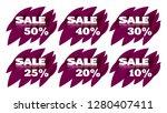 vintage sale tag sticker in... | Shutterstock .eps vector #1280407411