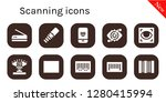 scanning icon set. 10 filled... | Shutterstock .eps vector #1280415994
