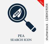 pea search icon. editable pea... | Shutterstock .eps vector #1280419054