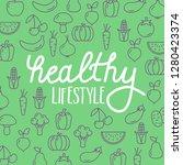 healthy lifestyle vector... | Shutterstock .eps vector #1280423374
