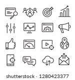 collection of seo icons   can... | Shutterstock .eps vector #1280423377