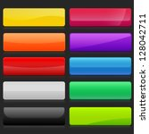 colorful set of rectangle... | Shutterstock .eps vector #128042711