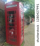 traditional red british phonebox | Shutterstock . vector #1280427991