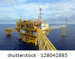 the offshore oil rig in the... | Shutterstock . vector #128042885