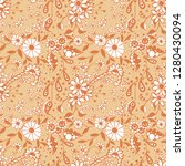 seamless pattern with little... | Shutterstock .eps vector #1280430094
