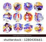 vector set of zodiac signs...   Shutterstock .eps vector #1280430661