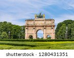 tuileries garden statues over... | Shutterstock . vector #1280431351
