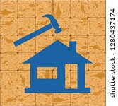 roofer   slater icon. vector... | Shutterstock .eps vector #1280437174