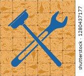 plumbing work symbol icon.... | Shutterstock .eps vector #1280437177
