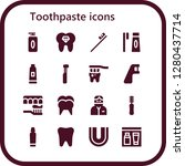 toothpaste icon set. 16 filled ... | Shutterstock .eps vector #1280437714