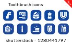 toothbrush icon set. 10 filled ... | Shutterstock .eps vector #1280441797