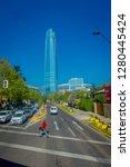 santiago  chile   october 16 ... | Shutterstock . vector #1280445424