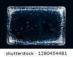 large rectangle of clear ice ... | Shutterstock . vector #1280454481