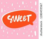 sweet. valentine's day sticker... | Shutterstock .eps vector #1280455567