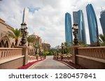 abu dhabi skyline  united arab... | Shutterstock . vector #1280457841