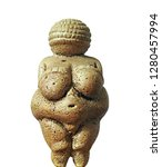 Small photo of Venus of Willendorf - Prehistoric figurine representing early fertility fetish, body image, perhaps a Mother Goddess from Upper Paleolithic Europe - replica of detailed texture and abstract early art