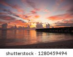 beautiful sunset in the maldives | Shutterstock . vector #1280459494