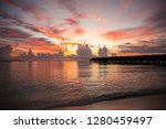 beautiful sunset in the maldives | Shutterstock . vector #1280459497